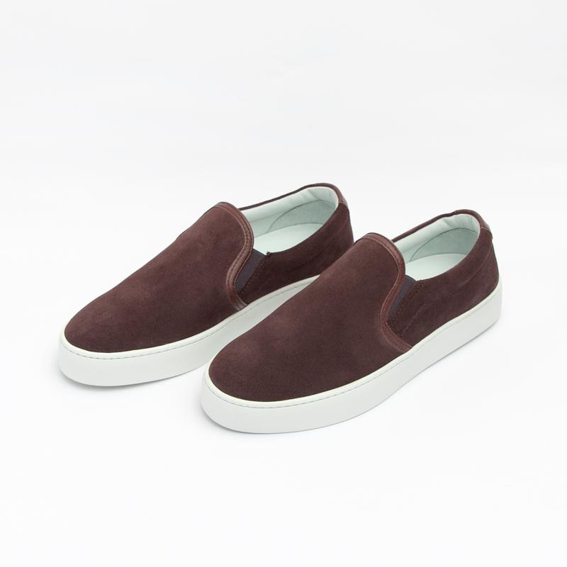 Women's Burgundy Slip-On Sneaker Women's - Slip-On Women's Sneakers