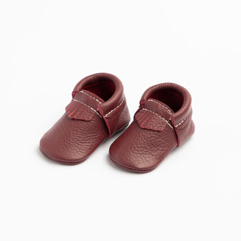 Burgundy City Mocc City Moccs Soft Soles