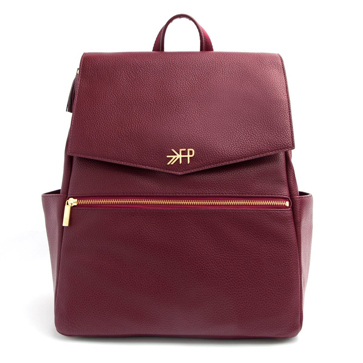 Burgundy Classic Diaper Bag