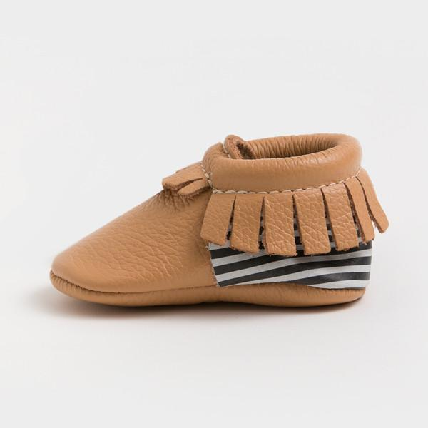 Butterscotch Licorice Moccasins Soft Soles