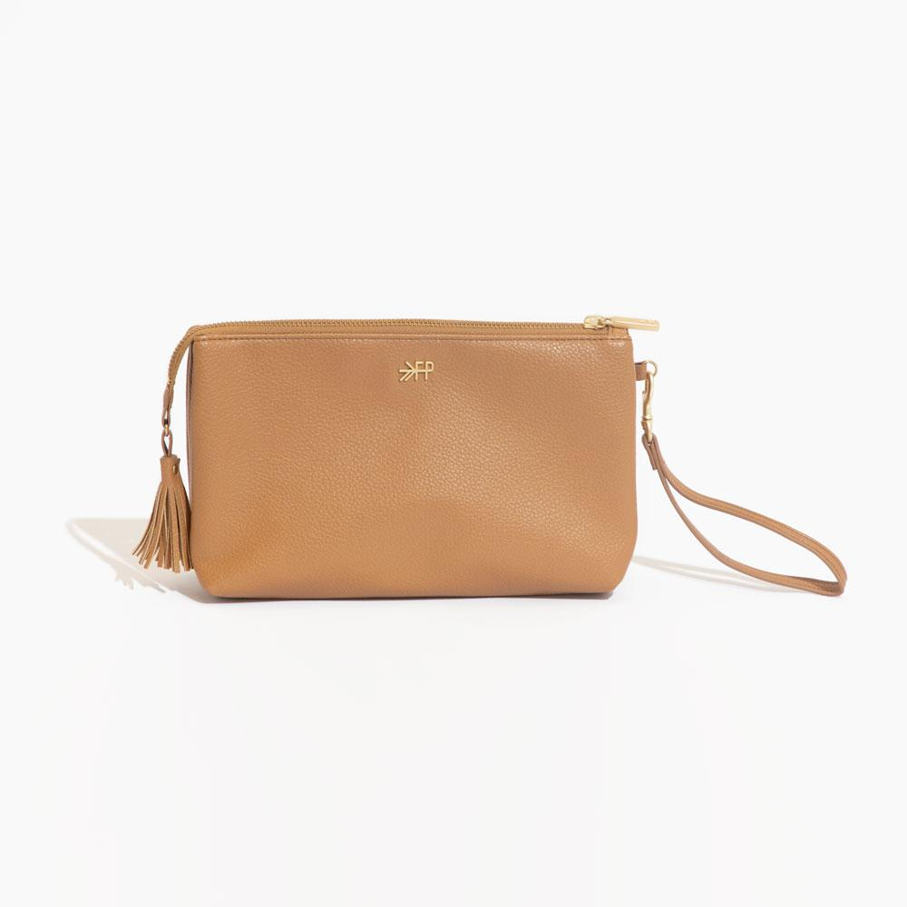 Butterscotch Tan Freshly Picked Vegan Leather Clutch Wallet Classic Zip Pouch