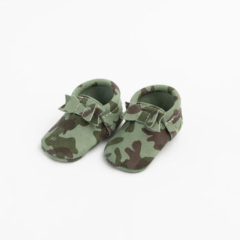 Camo Bow Mocc Bow Moccasins Soft Soles