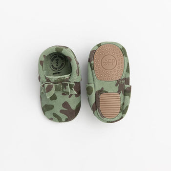 Camo Bow Mocc Mini Sole Mini Sole Bow Moccasin mini soles