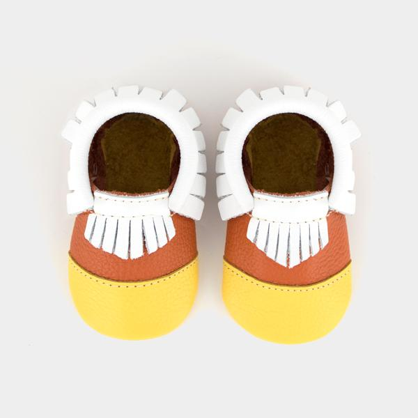 Candy Corn Moccasins Freshly Picked Baby Shoes & Gifts