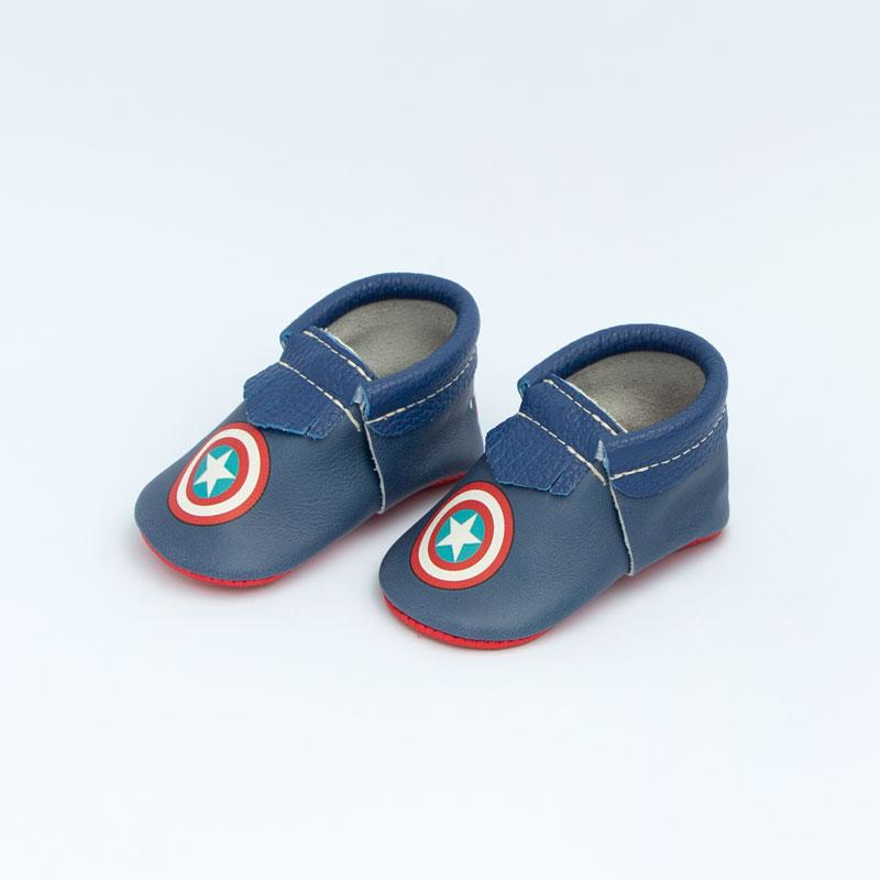 Marvel Captain America City Moccs Soft Soles