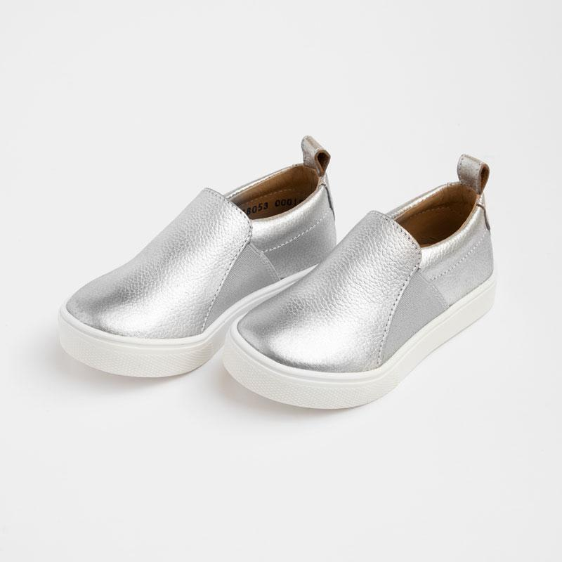 Chrome Slip-On Sneaker Kids - Classic Slip-On Sneaker Kids Sneakers