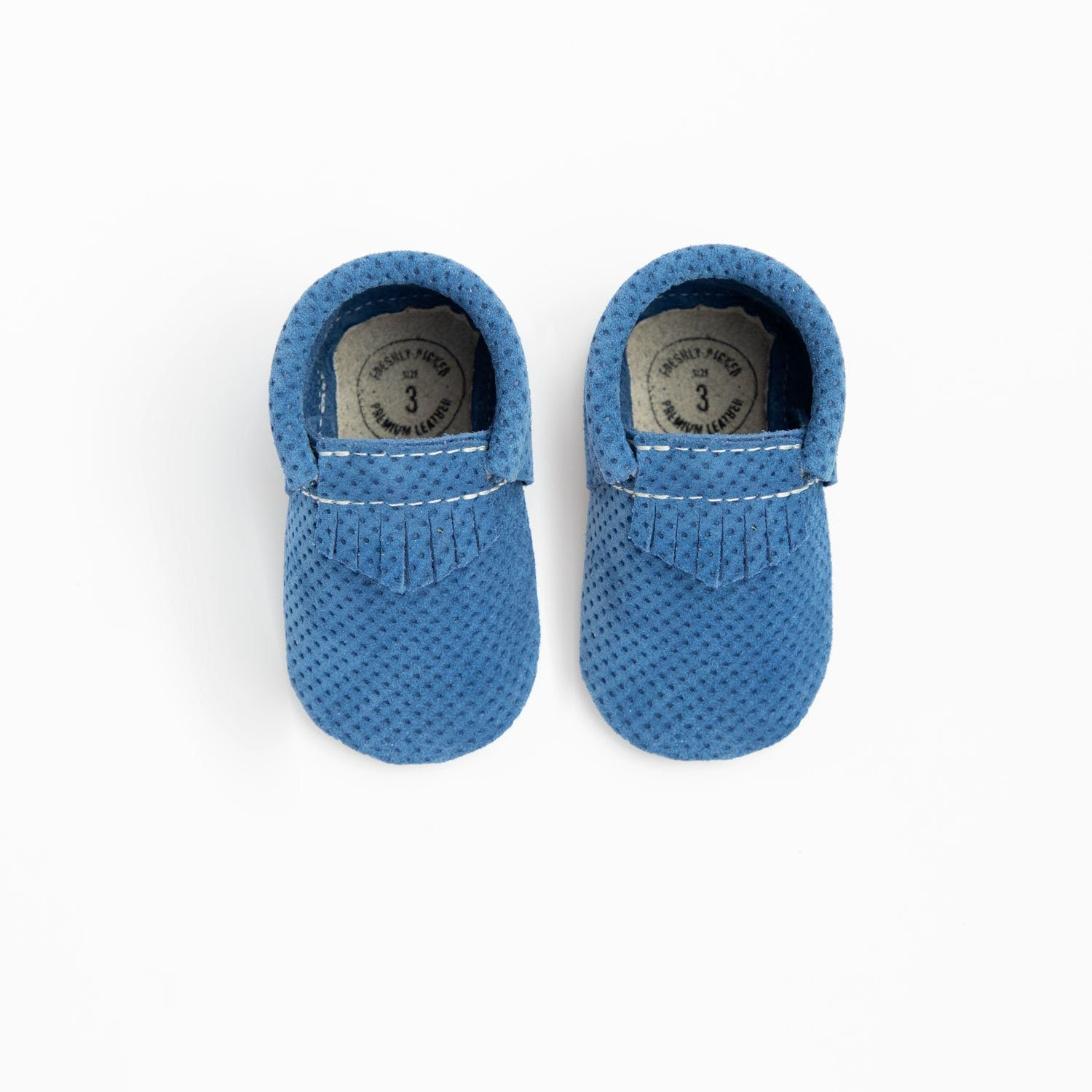 Cobalt Perforated Suede City Mocc City Moccs Soft Soles
