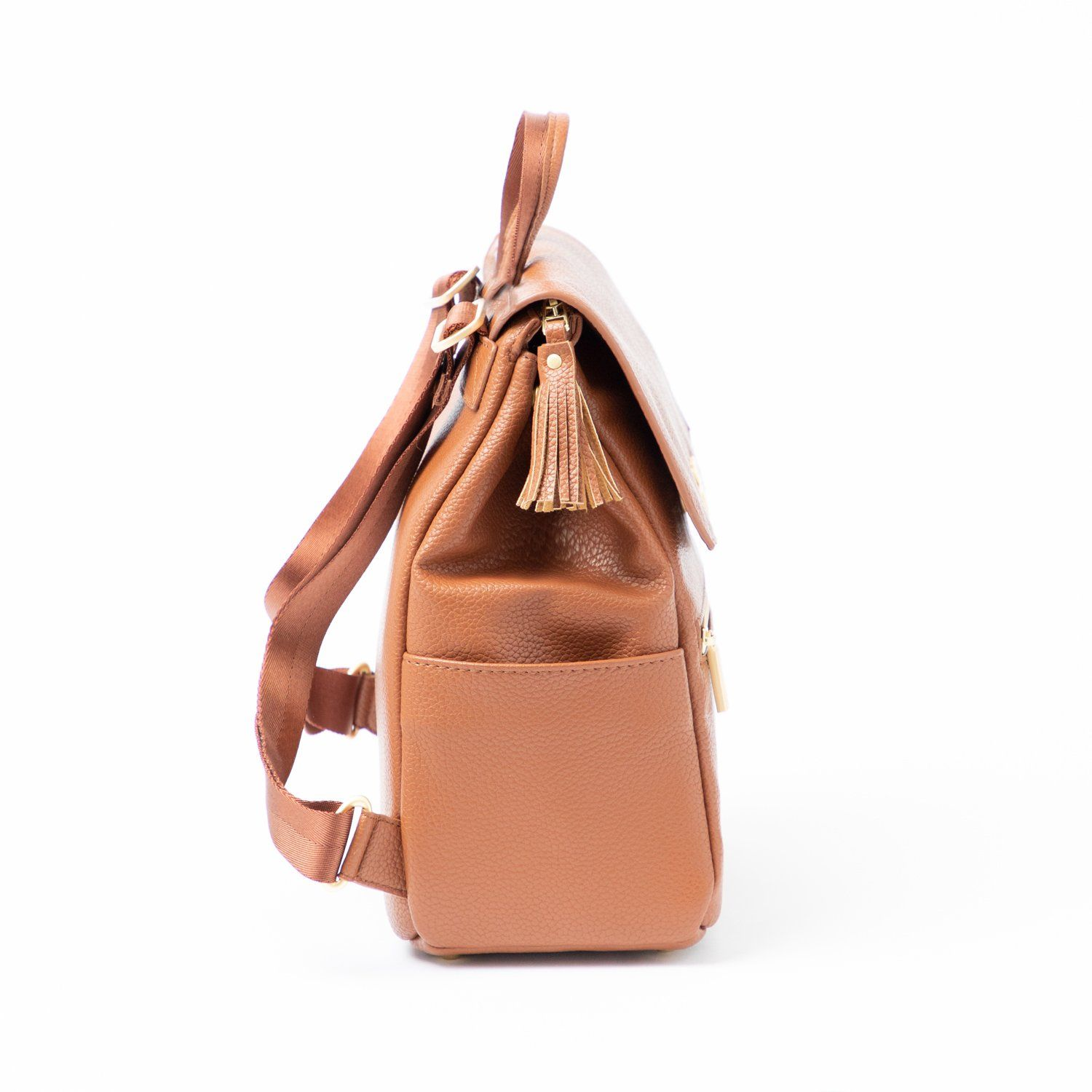 Cognac Classic Mini Bag | Pre-Order Mini Classic Diaper Bag Bags
