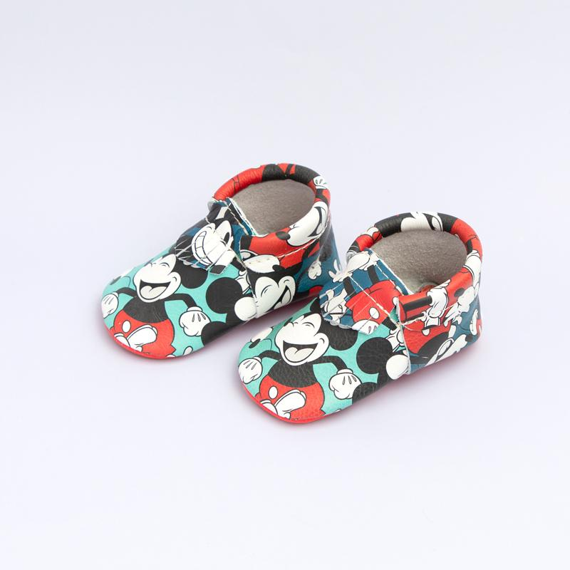 Color Block Mickey City Mocc City Moccs Soft Soles