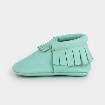 Cool Mint Moccasins Soft Soles