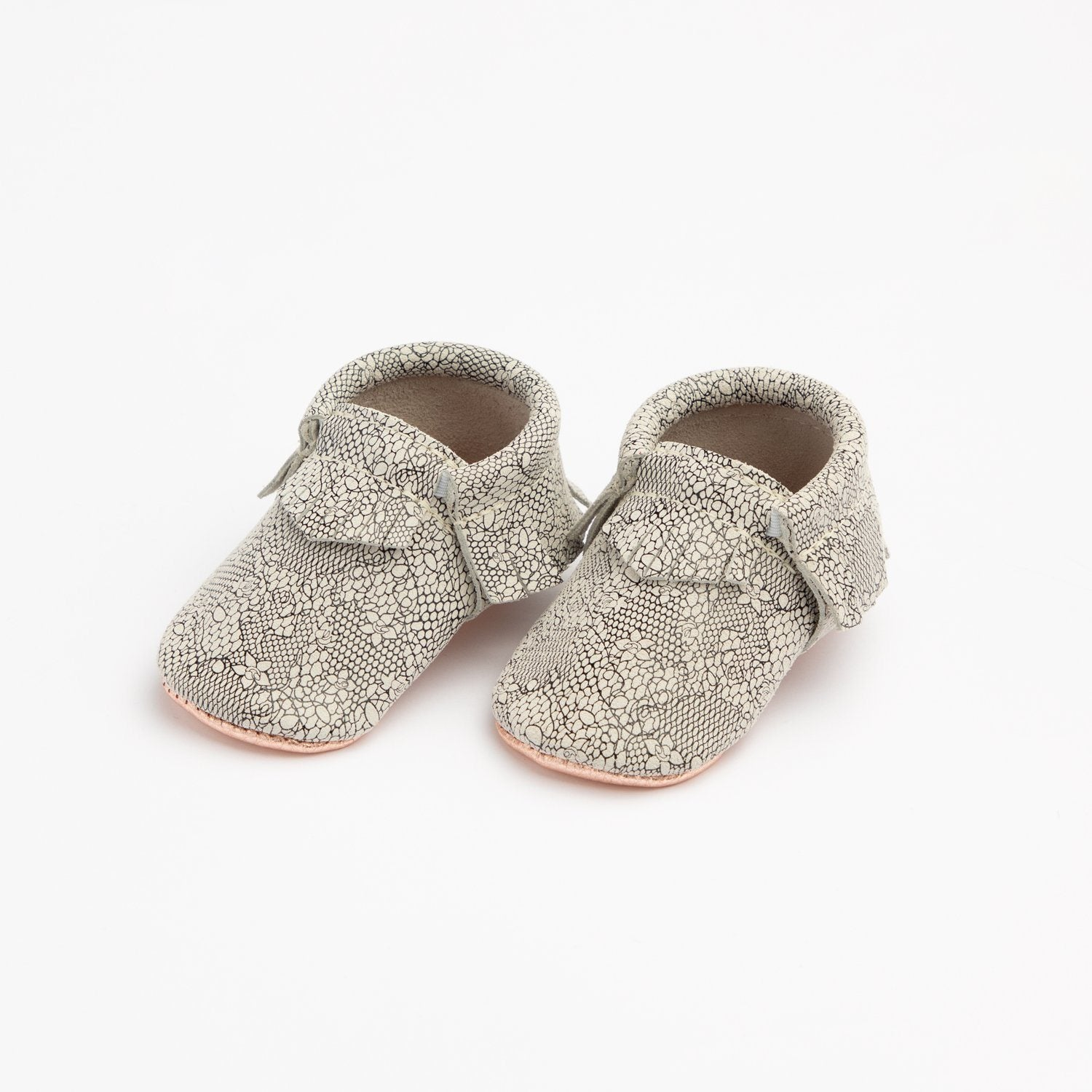 Coppered Lace Moccasins soft sole