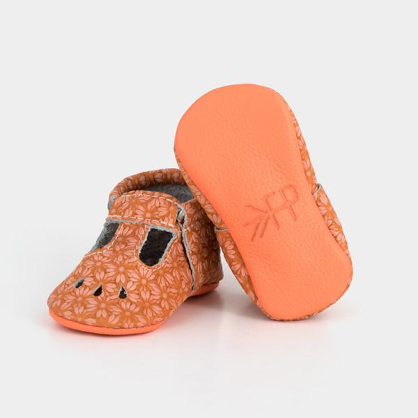 Coral Daisy Mary Jane Mary Janes Soft Soles