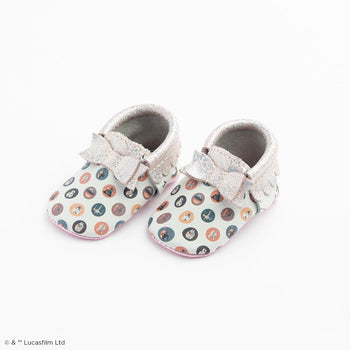 Cosmic Dots Bow Mocc Bow Moccasins Soft Soles