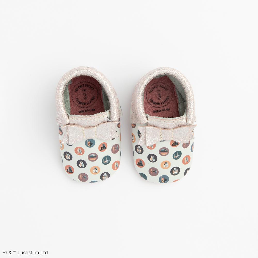 Cosmic Dots Bow Mocc Mini Sole Mini Sole Bow Moccasin mini soles