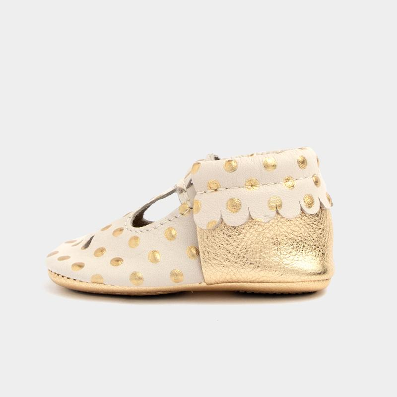 Heirloom Cream & Gold Mary Jane Mini Sole