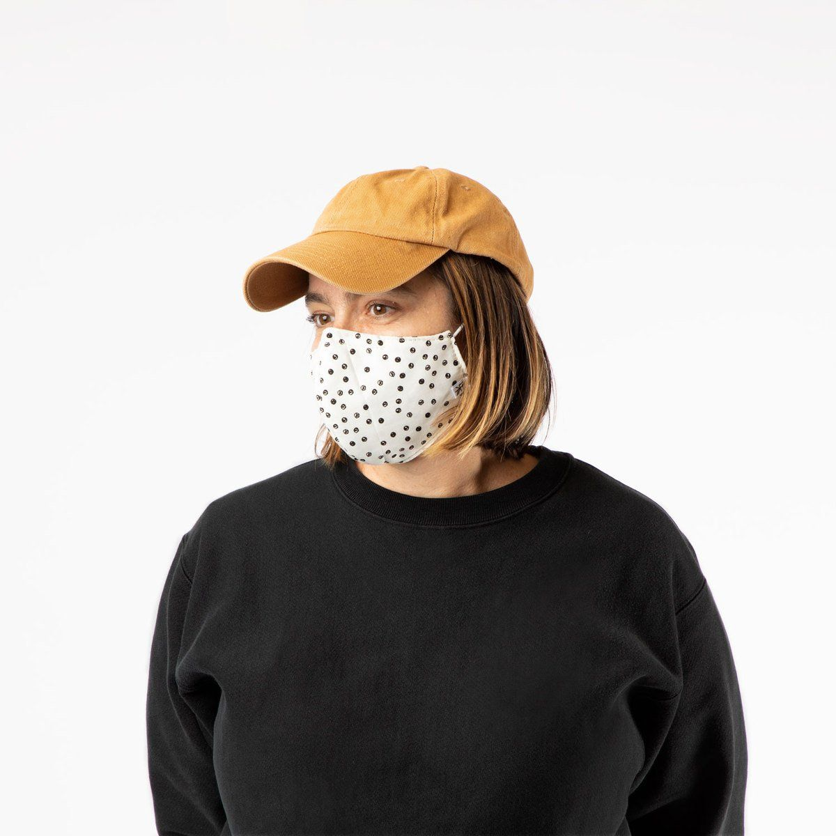 Adult Cream Dots Adjustable Mask - S/M Mask Accessories