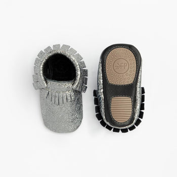 Crinkle Gunmetal Mini Sole mini sole moc mini soles