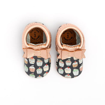 Cupcakes for Days Bow Mocc Mini Sole Mini Sole Bow Moccasin mini soles
