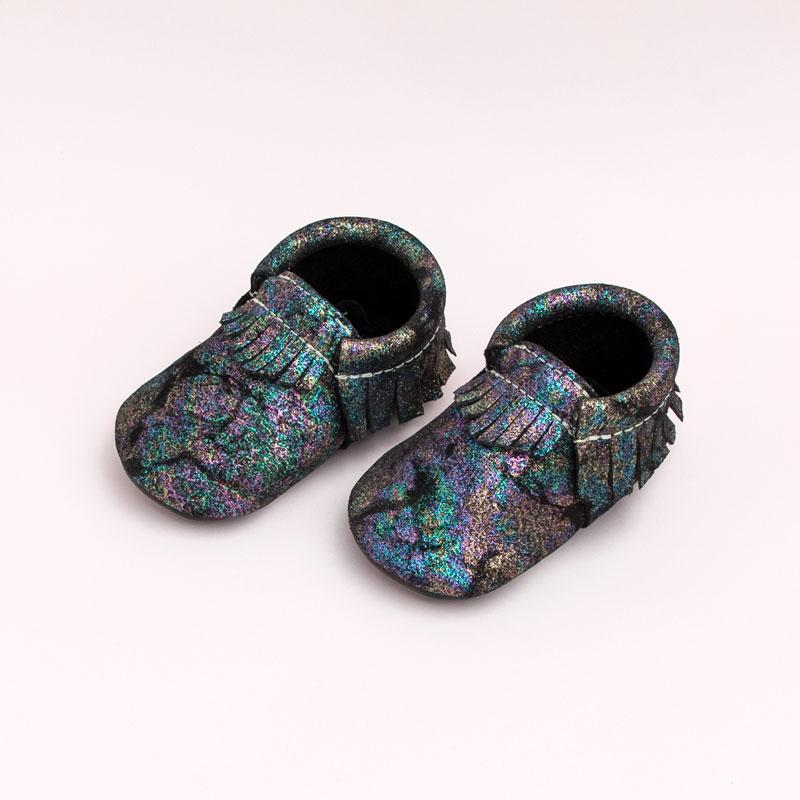 Galaxy Dark Moccasins Soft Soles