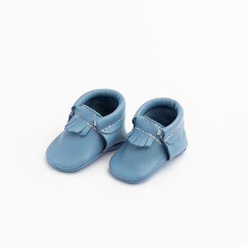 Newborn Denim Blue City Mocc