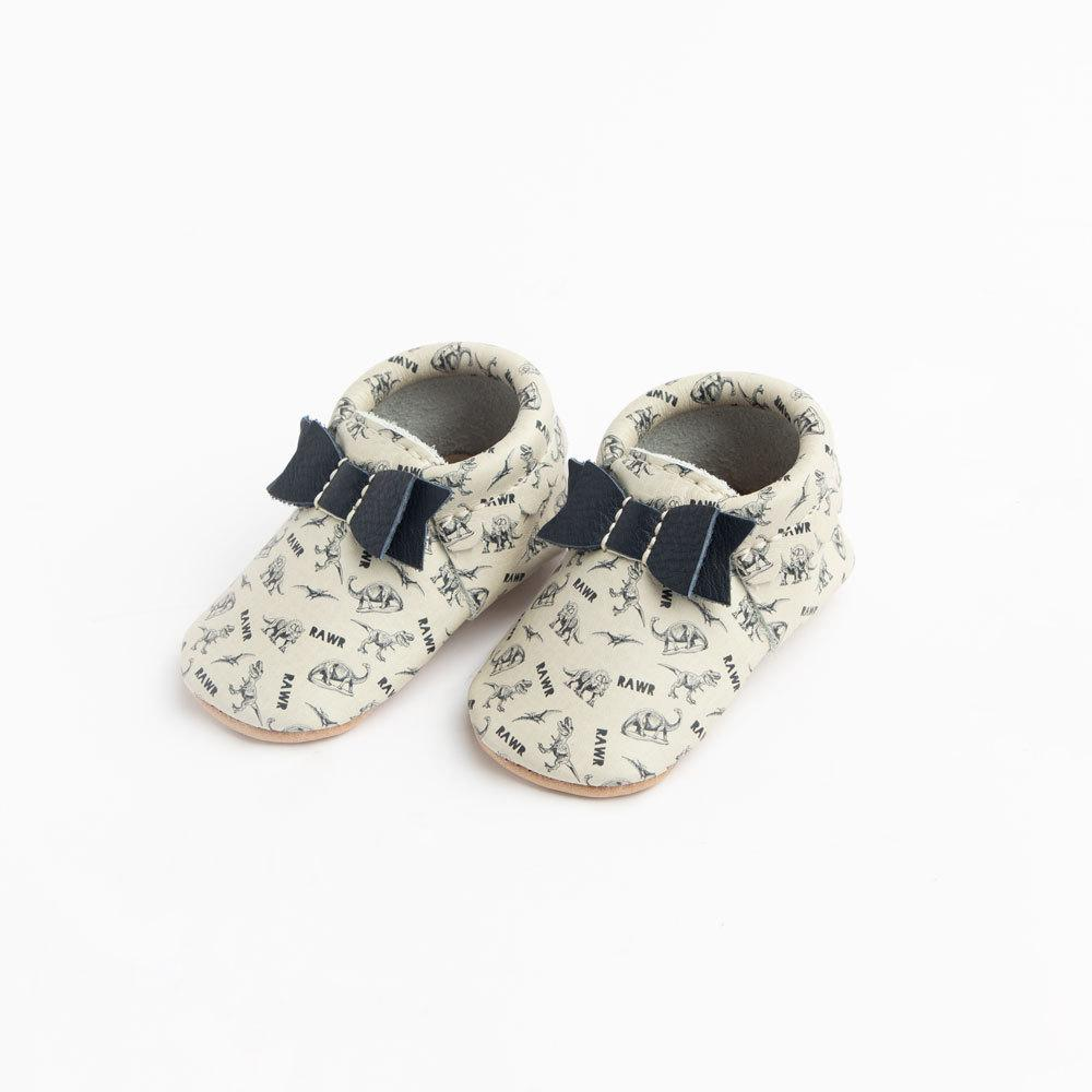 Dino-Mite Bow Mocc Bow Moccasins Soft Soles
