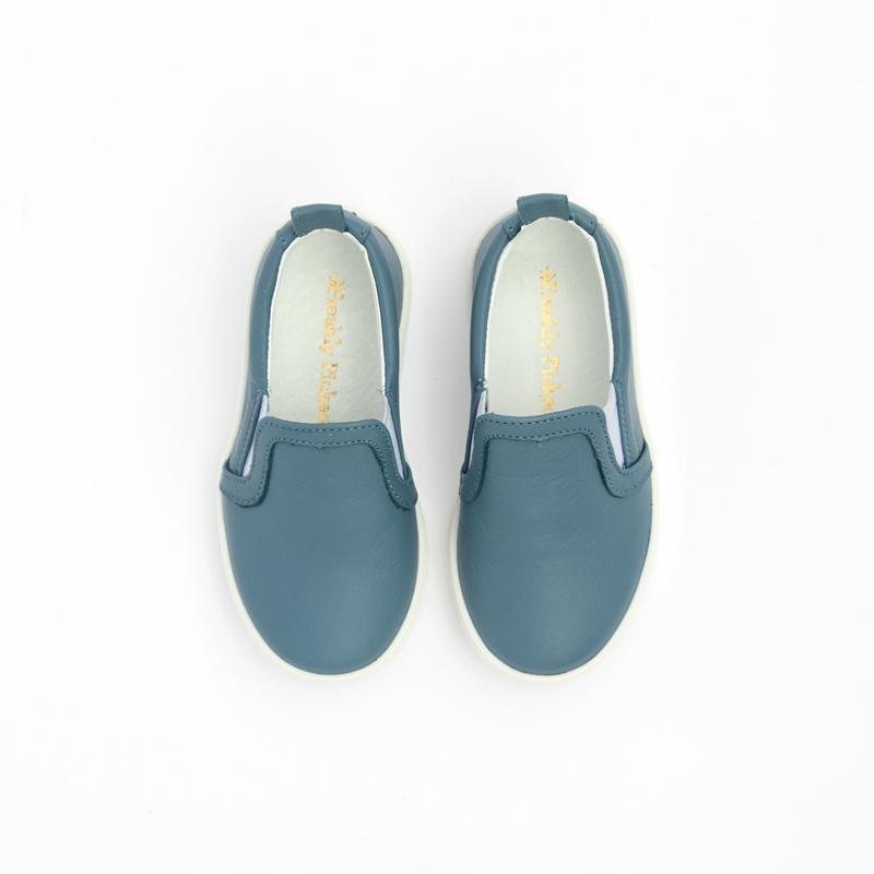 Dusty Blue Slip-On Sneaker