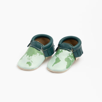 Earth Day Moccasins Soft Soles