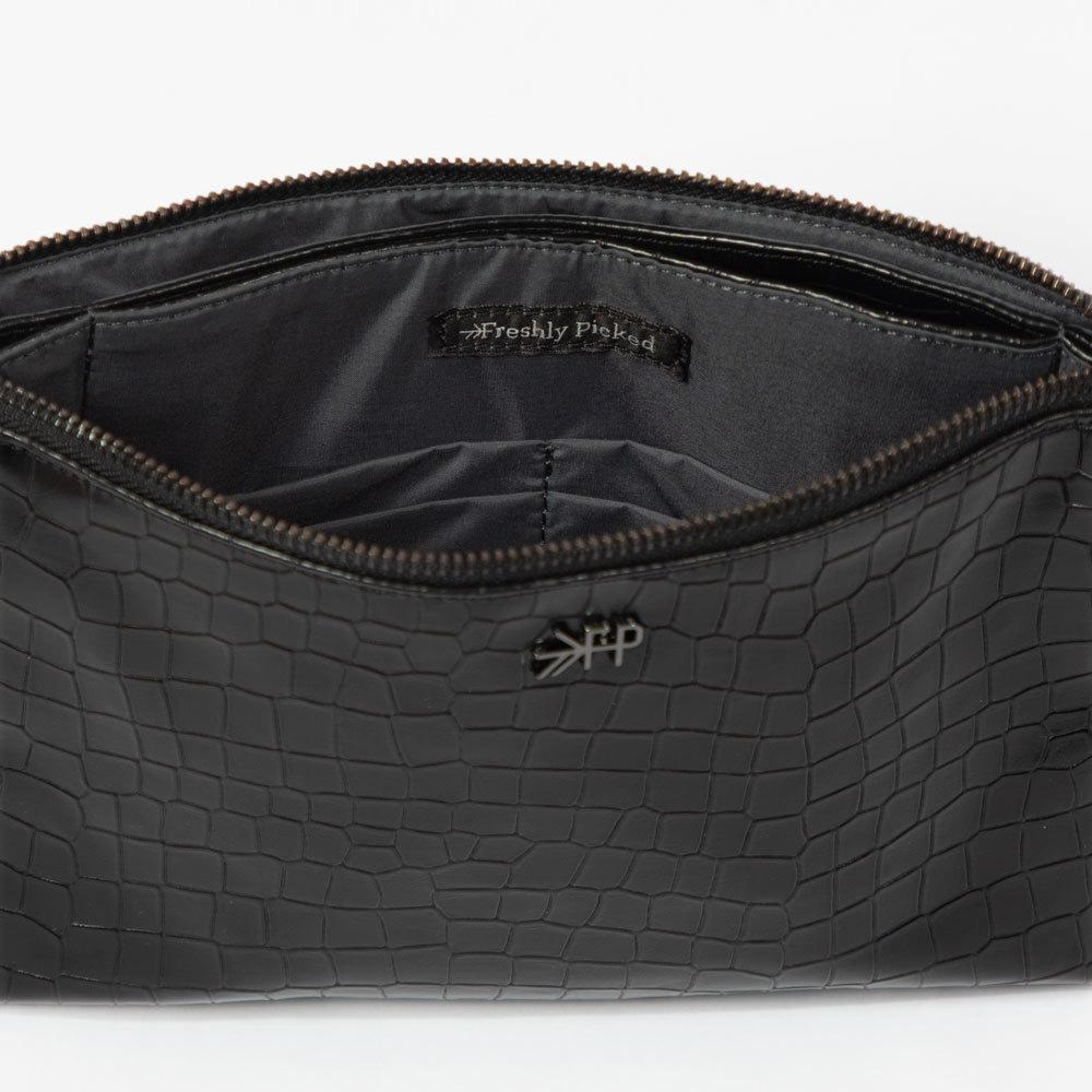 Ebony Croc Zip Pouch Classic Zip Pouch Accessories