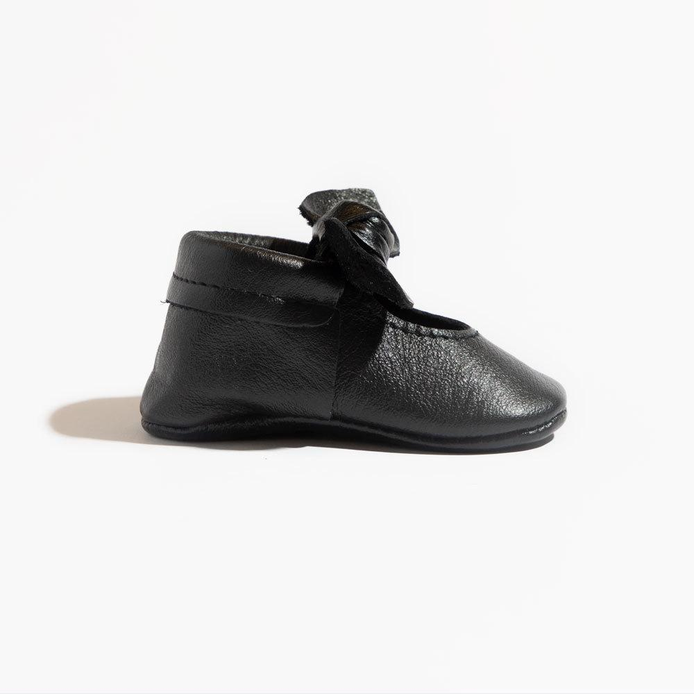 Ebony Knotted Bow Mocc Mini Sole II Knotted Bow Mocc Mini Sole II