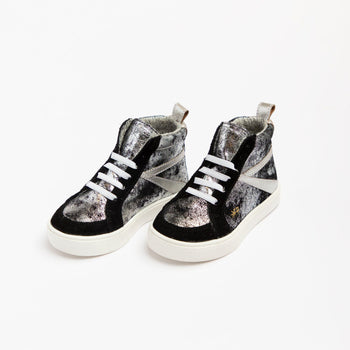 Ebony Metallic High Top Sneaker