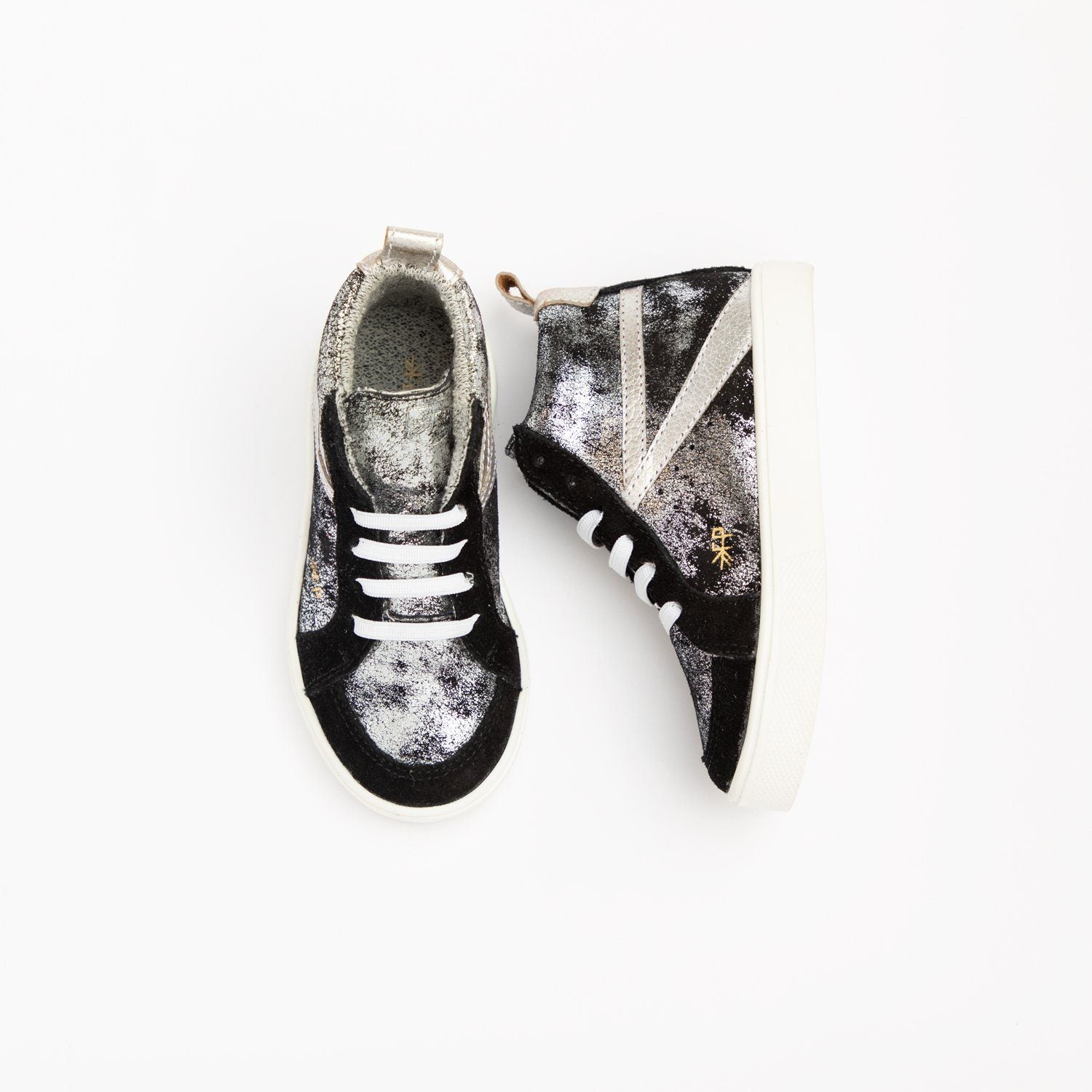 Ebony Metallic High Top Sneaker Kids - High Top Sneaker Kids Sneakers