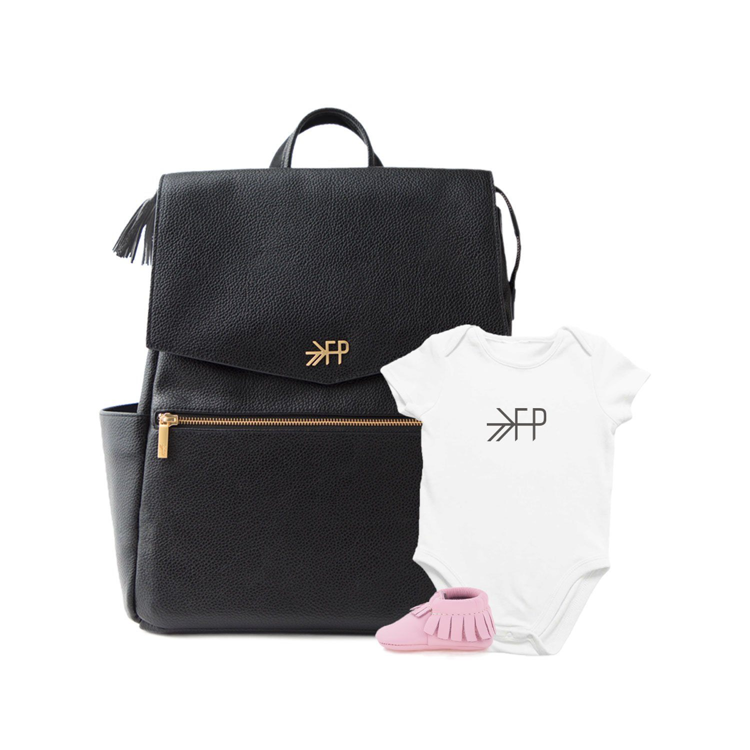 Ebony Classic + Rose Pink Set Diaper Bag Bundle Bundle