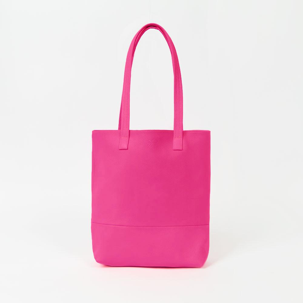 Electric Pink Leather Tote Bags Lindon Bags