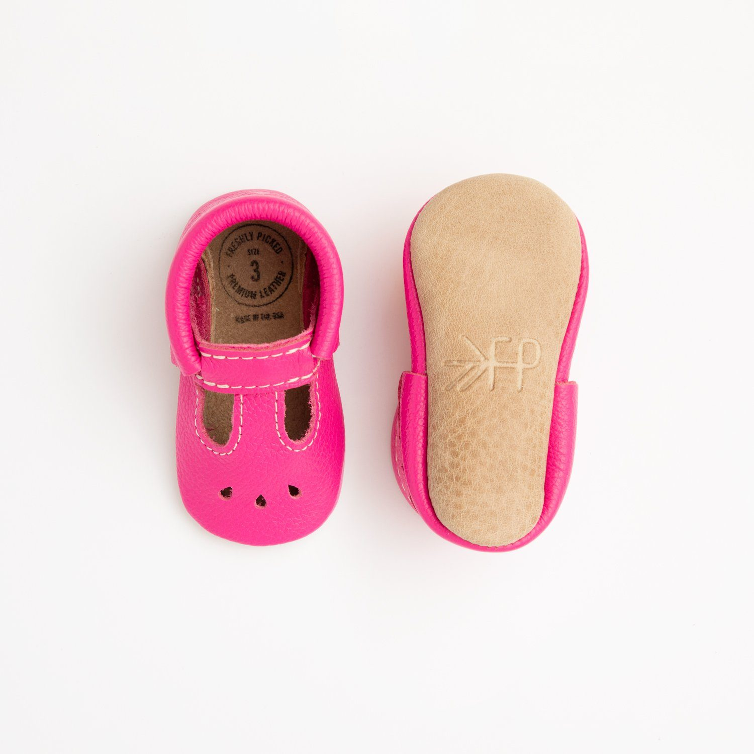 Electric Pink with Weathered Brown Mary Jane Mary Janes soft sole