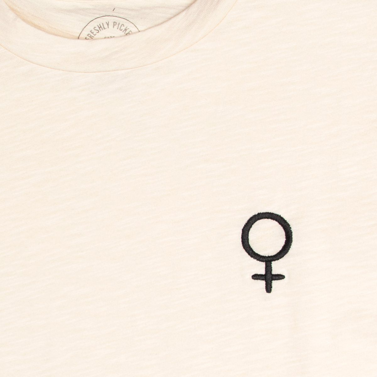 Female Symbol Cream Slub Tee
