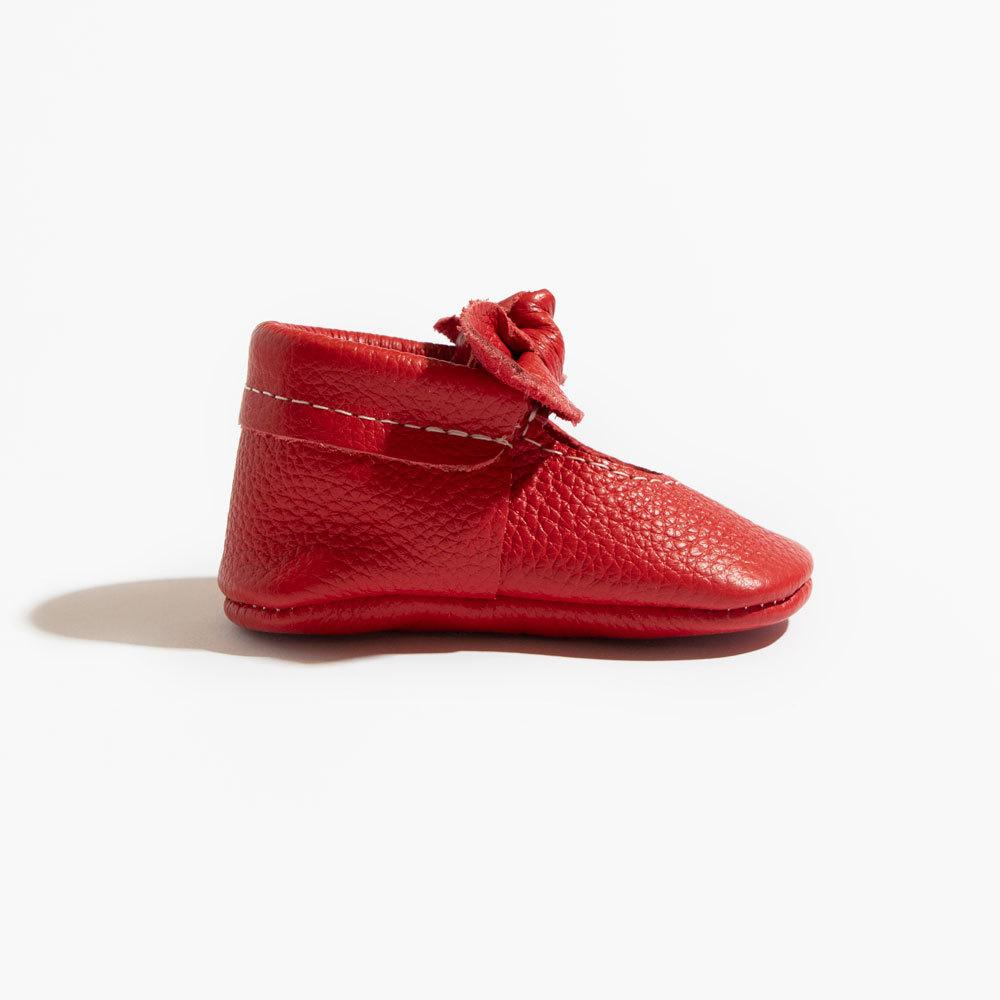 Fire Engine Knotted Bow Mocc knotted bow mocc Soft Soles