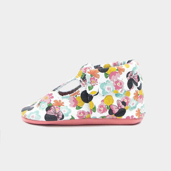 Floral Minnie Mary Jane Mary Janes Soft Soles