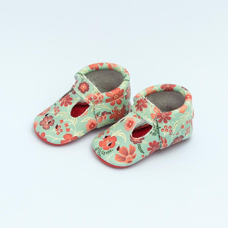 Folk Floral Mary Jane Mary Janes Soft Soles