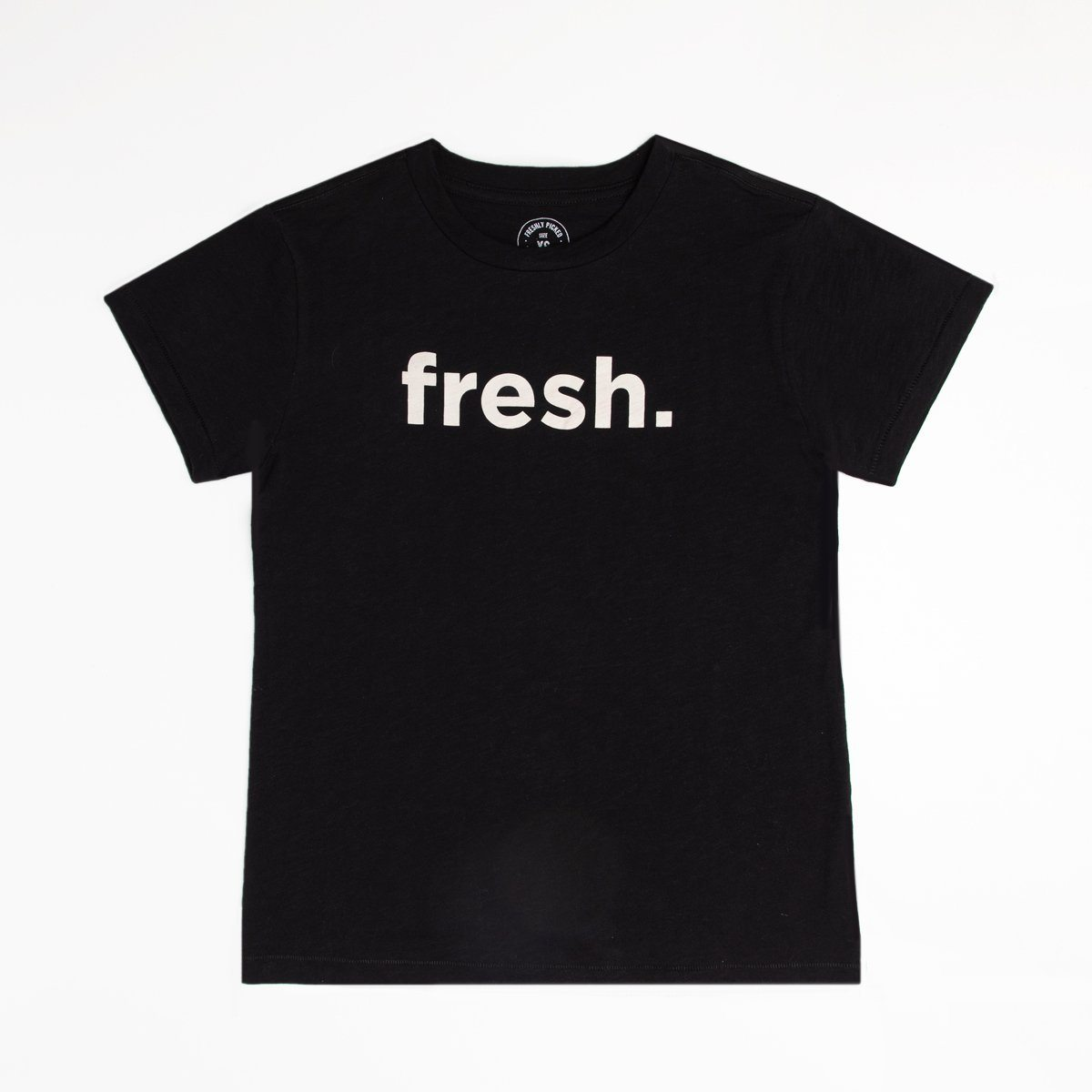 Fresh Black Slub Tee