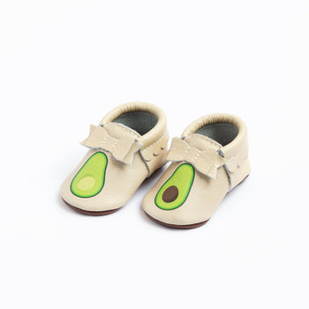 Fresh Avocado Bow Mocc | Pre-Order Bow Moccasins Soft Soles