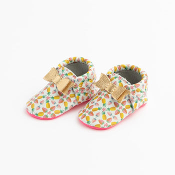 Fresh and Fruity Bow Mocc Bow Moccasins Soft Soles