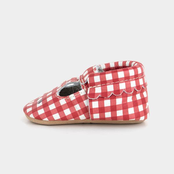 Red Gingham Mary Jane Mary Janes Soft Soles