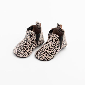 Glossy Leopard Chelsea Boot