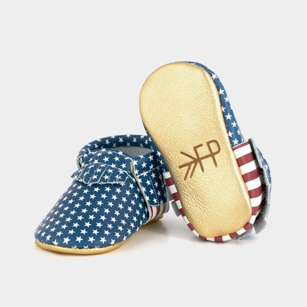 Go For Gold Moccasins Soft Soles