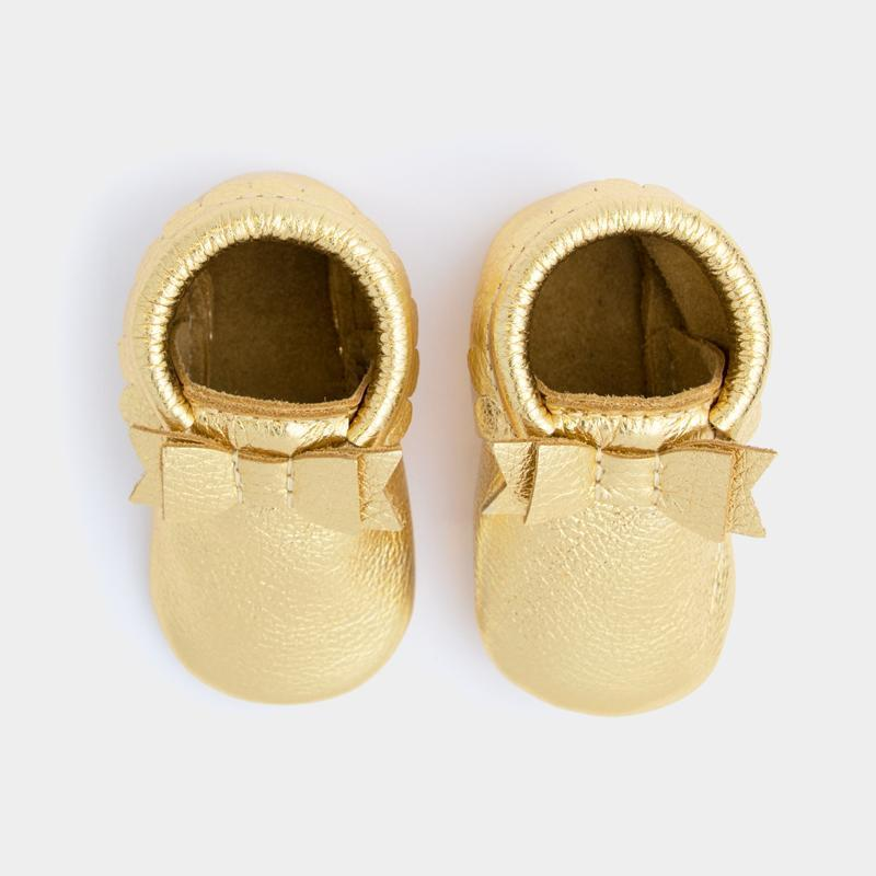 Gold Bow Mocc Mini Sole Mini Sole Bow Moccasin mini soles