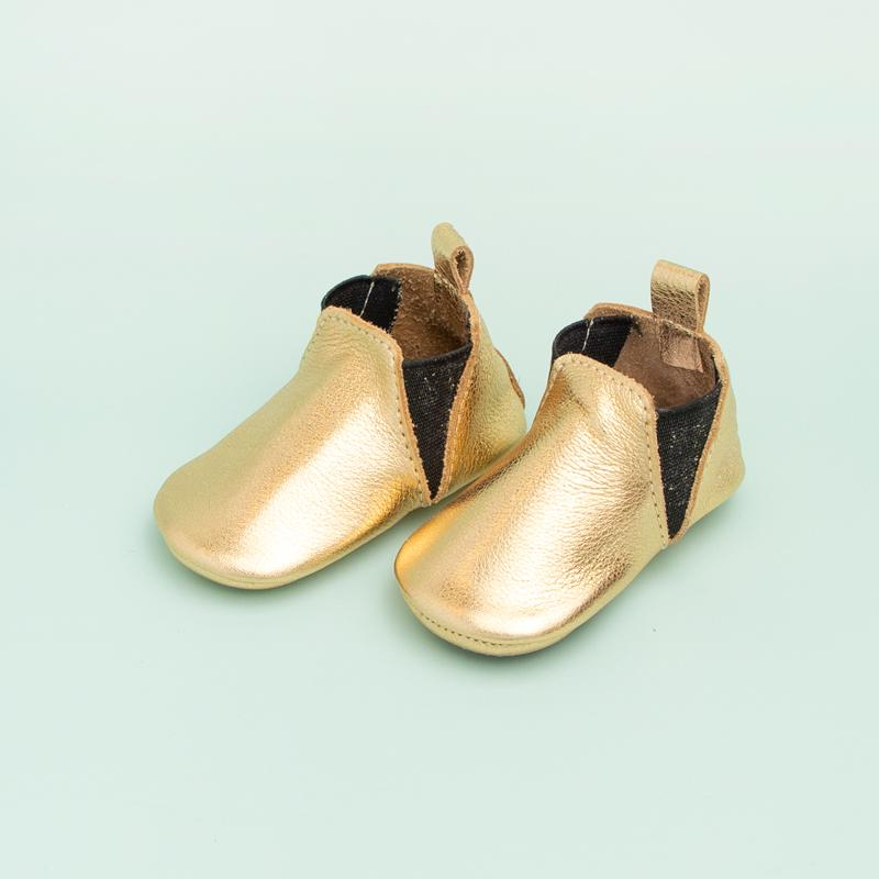 Gold Chelsea Boot Mini Sole