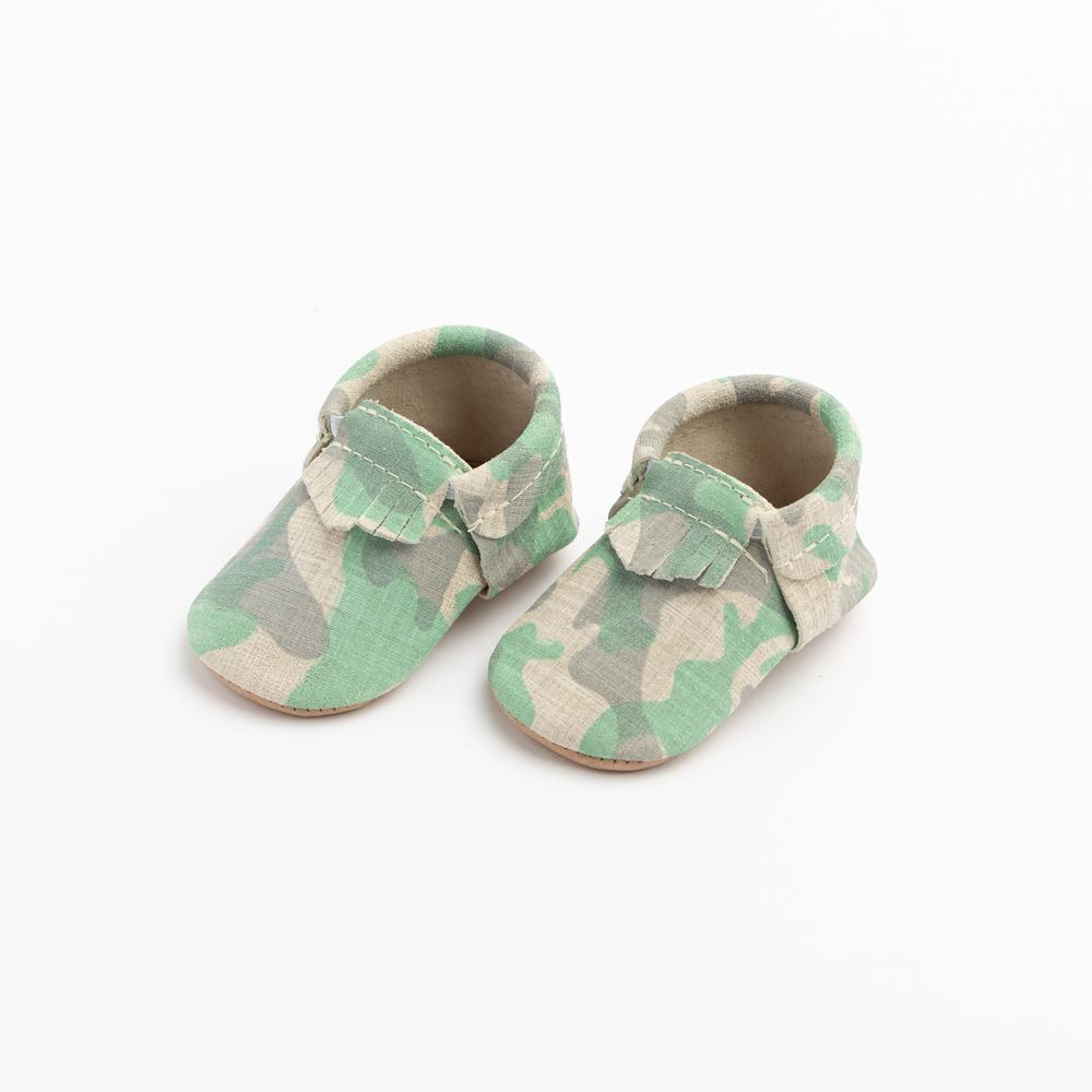 Green and Grey Camo City Mocc City Moccs Soft Soles