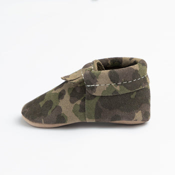 Green Suede Camo City Mocc City Moccs Soft Soles