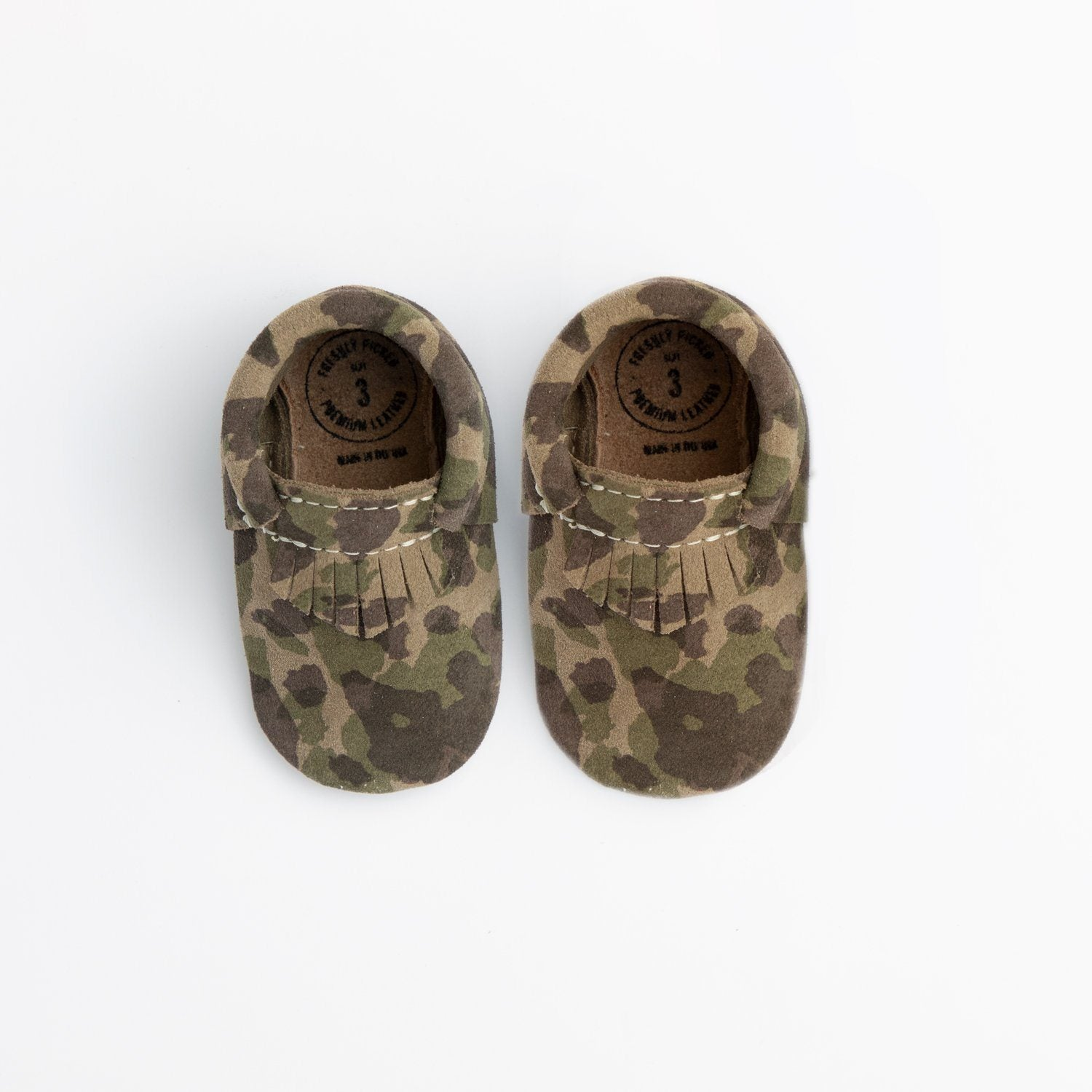Green Suede Camo City Mocc Mini Sole Mini Sole City Mocc mini sole
