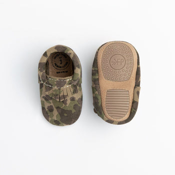 Green Suede Camo City Mocc Mini Sole